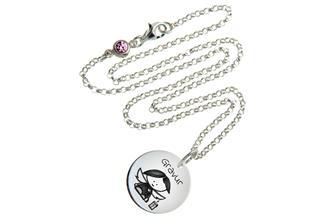 Kinder Kette mit Gravuranhänger Engel - ChainMAGPIE 925 Silber