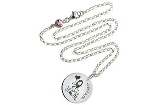 Kinder Kette mit Gravuranhänger Girl - ChainMAGPIE 925 Silber
