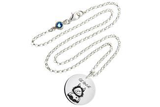 Kinder Kette mit Gravuranhänger Wuschel - ChainMAGPIE 925 Silber