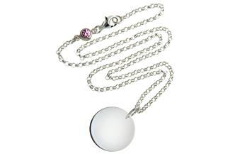 Kinder Kette mit Gravuranhänger L ChainMAGPIE- 925 Silber 925 Silber