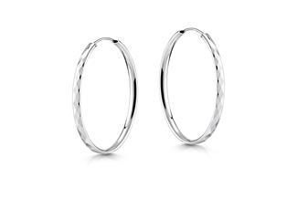 Creolen mit Schliff, Durchmesser 50mm - 925 Silber