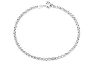 Doppelerbskette Armband 2,4mm - 925 Silber