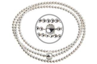 Elastic Elements Armband 3fach - 925 Silber