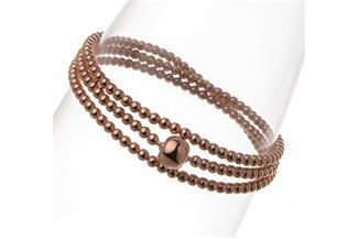 Elastic Elements Armband 3fach - 925 Silber, rosé vergoldet