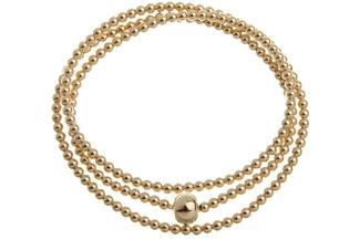 Elastic Elements Armband 3fach - 925 Silber, vergoldet 925 Silber, vergoldet