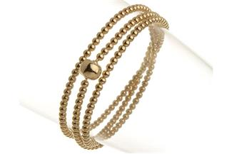Elastic Elements Armband 3fach - 925 Silber, vergoldet