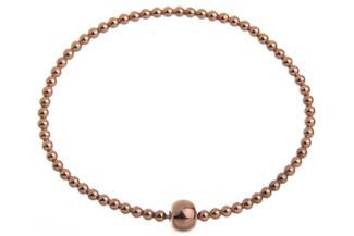 Elastic Elements Armband - 925 Silber, rosé vergoldet