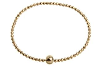 Elastic Elements Armband - 925 Silber, vergoldet