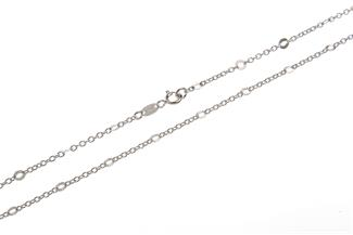 Erbskette 2mm mit geschliffenen Plättchen - 925 Silber