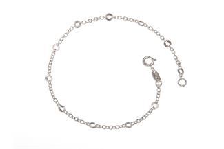 Erbskette Armband 2mm mit geschliffenen Plättchen - 925 Silber