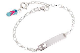 ID-Armband Erbse 2,3 Herz - 925 Silber Länge: 16cm