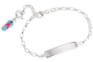 ID-Armband Erbse 2,3 - 925 Silber Länge: 16cm