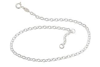 Fußkette Erbskette 2,8mm - 925 Silber