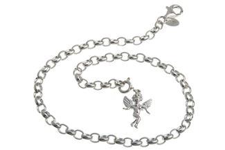 Fußkette Erbskette 4mm - 925 Silber