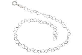 Fußkette Herzen - 925 Silber
