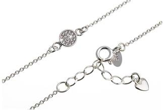Fußkette Erbskette 1,3mm Ornament - 925 Silber