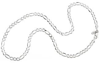 Figarokette 4,5mm - 925 Silber