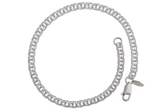 Garibaldikette Armband 3,6mm - 925 Silber