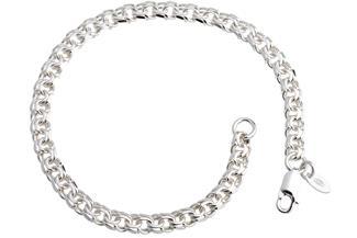 Garibaldikette Armband 5mm - 925 Silber