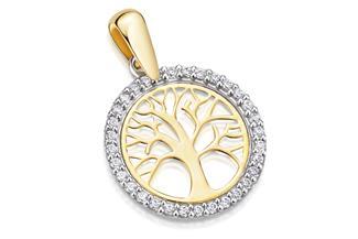 Anhänger Lebensbaum - 585 Gold