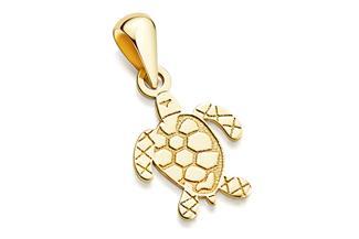 Anhänger Schildkröte - 333 Gold