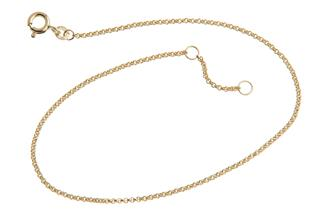 Fußkette Erbskette 1,5mm - 333 Gold