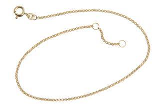 Fußkette Erbse 1,5mm - 333 Gold