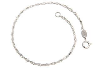 Haferkornkette Armband 2mm - 925 Silber