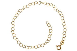 Kinder-Armband Herzen - 333 Gold