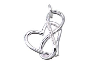 Anhänger Endless Love Herz - 925 Silber
