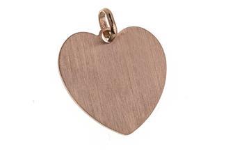 Gravuranhänger Herz Love groß - rosé vergoldet