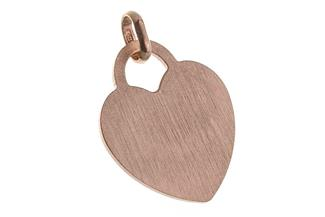 Gravuranhänger Herz Love klein - rosé vergoldet
