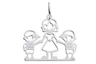 Anhänger Junge-Mutter-Junge - 925 Silber