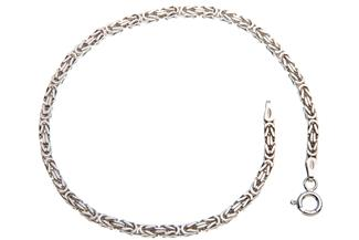 Königskette Armband 2,5mm - 925 Silber