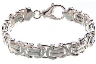Königskette Armband, flach 11mm - 925 Silber