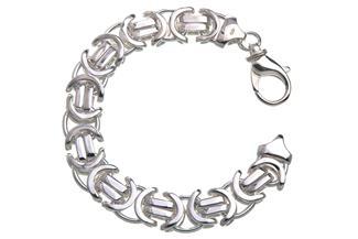 Königskette Armband, flach 14mm