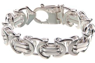 Königskette Armband, flach 17mm