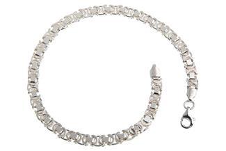 Königskette Armband, flach 4,6mm