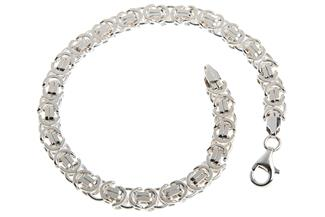 Königskette Armband, flach 6mm