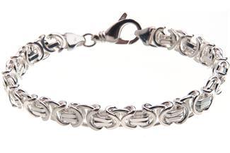 Königskette Armband, flach 9mm