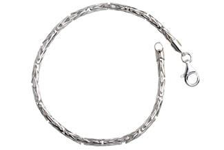 Königskette Armband, rund 3mm - 925 Silber
