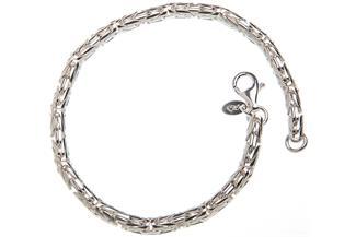 Königskette Armband, rund 4mm