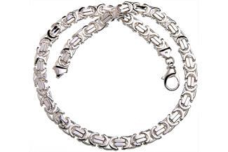 Königskette, flach 11mm - 925 Silber