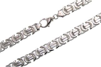 Königskette, flach 14mm - 925 Silber