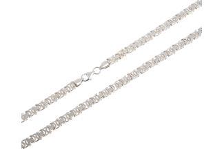 Königskette, flach 4,6mm - 925 Silber