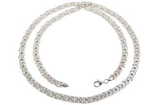 Königskette, flach 6mm - 925 Silber