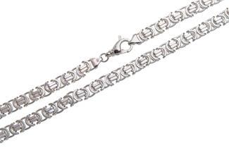 Königskette, flach 9mm - 925 Silber