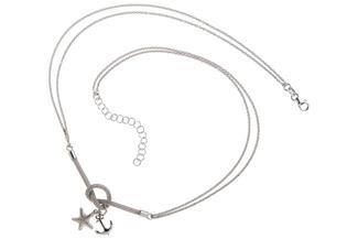 Kette mit Anhänger Anker und Stern - 925 Silber