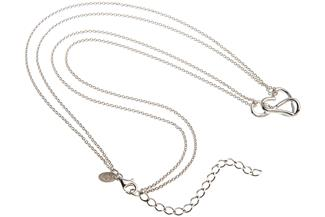 Kette mit Anhänger Herz und Unendlichkeitssymbol - 925 Silber