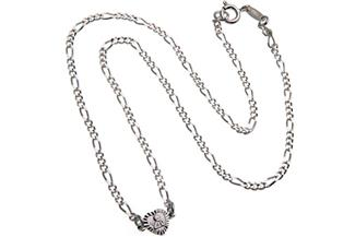 Kinder-Figarokette 2,2mm Engel Herz - 925 Silber